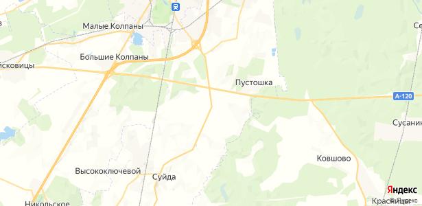 Пижма на карте