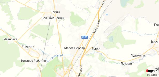 Большое Верево на карте