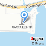 Лахта Центр на карте Санкт-Петербурга