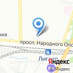 Магазин белорусских продуктов на карте Санкт-Петербурга