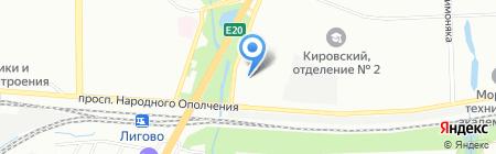 Шиномонтажная мастерская на проспекте Народного Ополчения на карте Санкт-Петербурга