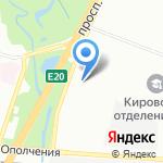 САНДОР на карте Санкт-Петербурга