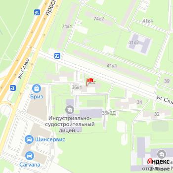 г. Санкт-Петербург, ул. Стойкости,36 на карта