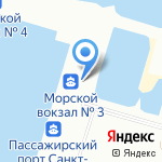 Морской Фасад на карте Санкт-Петербурга