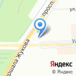 Вода на карте Санкт-Петербурга