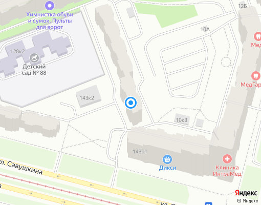 Жилищно-строительный кооператив «ЖСК-1358» на карте Санкт-Петербурга