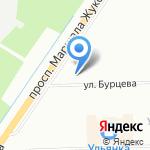 Бурцева-2 на карте Санкт-Петербурга