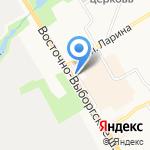 Сварог на карте Санкт-Петербурга