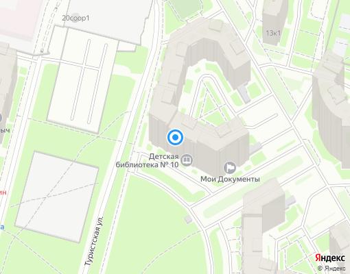 Управляющая компания «Сервис-Истейт» на карте Санкт-Петербурга