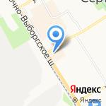 Красный сад на карте Санкт-Петербурга