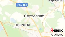Отели города Сертолово на карте