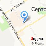Киоск по продаже хлебобулочных изделий на карте Санкт-Петербурга