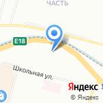 Луч на карте Санкт-Петербурга