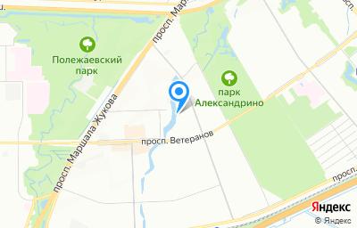 Местоположение на карте пункта техосмотра по адресу г Санкт-Петербург, ул Бурцева, д 23 литер а, пом 7Н