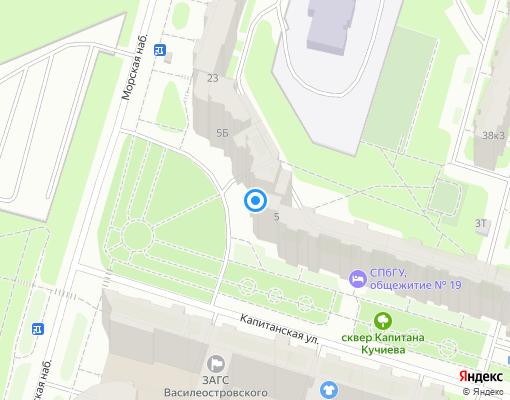 Товарищество собственников жилья «Капитанская 5» на карте Санкт-Петербурга