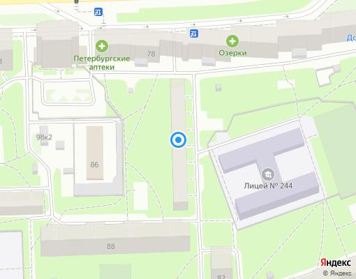 Жилищно-строительный кооператив «ЖСК-437» на карте Санкт-Петербурга
