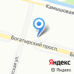 Баттерфляй на карте Санкт-Петербурга