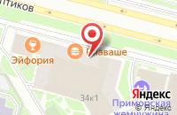 Схема проезда до компании SK Design в Санкт-Петербурге