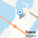 Прибой на карте Санкт-Петербурга