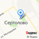 Гимназия г. Сертолово на карте Санкт-Петербурга
