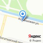 Любава на карте Санкт-Петербурга