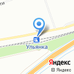 Ульянка на карте Санкт-Петербурга