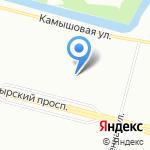 Цитадель СПб на карте Санкт-Петербурга