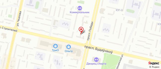 Карта расположения пункта доставки пр-т Победы в городе Витебск