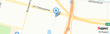Шиномонтажная мастерская на ул. Савушкина на карте Санкт-Петербурга