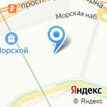 Берег Успеха на карте Санкт-Петербурга