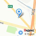 Бабочка на карте Санкт-Петербурга