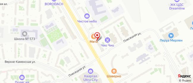 Карта расположения пункта доставки Санкт-Петербург Комендантский в городе Санкт-Петербург