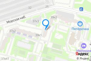 Снять двухкомнатную квартиру в Санкт-Петербурге Морская наб., 39к1Б