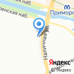 Риквода на карте Санкт-Петербурга
