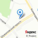 Вилена на карте Санкт-Петербурга