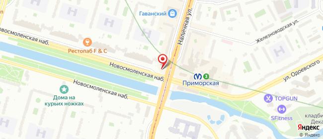 Карта расположения пункта доставки 6081 Постамат ОМНИСДЭК в городе Санкт-Петербург