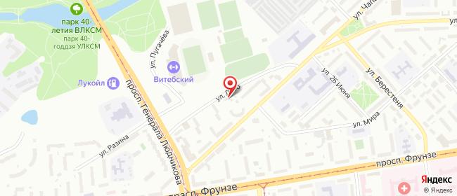 Карта расположения пункта доставки На Чапаева в городе Витебск