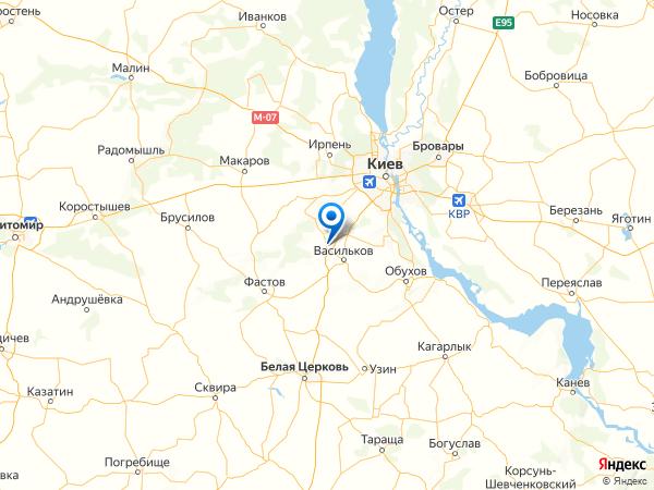 поселок городского типа Калиновка на карте