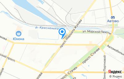 Местоположение на карте пункта техосмотра по адресу г Санкт-Петербург, пр-кт Маршала Жукова, д 25 к 1 литер а