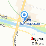 Две палочки на карте Санкт-Петербурга
