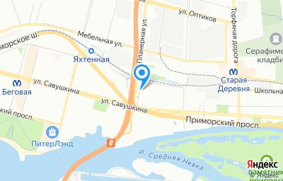 Местоположение на карте пункта техосмотра по адресу г Санкт-Петербург, ул Планерная, д 7 литер а