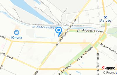 Местоположение на карте пункта техосмотра по адресу г Санкт-Петербург, пр-кт Маршала Жукова, д 25