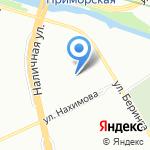 Беринга 32/2 на карте Санкт-Петербурга