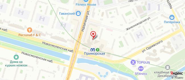 Карта расположения пункта доставки Санкт-Петербург Железноводская в городе Санкт-Петербург