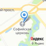 Храм святых мучениц Веры на карте Санкт-Петербурга