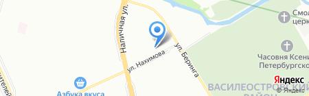 Строим-Дачи на карте Санкт-Петербурга