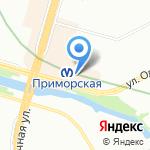 Юбилейный на карте Санкт-Петербурга