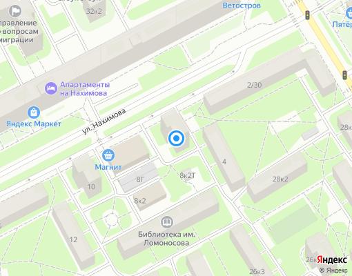 Жилищно-строительный кооператив «Шахтёр-2» на карте Санкт-Петербурга