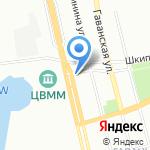 Бумер на карте Санкт-Петербурга