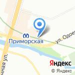 Северная корона на карте Санкт-Петербурга